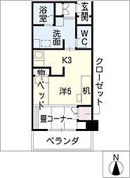 鶴舞ガーデンコート[13階]の間取り