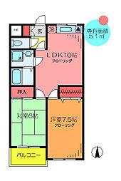 東京都足立区谷中5丁目の賃貸マンションの間取り