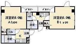 ミネルバ梅園[4階]の間取り