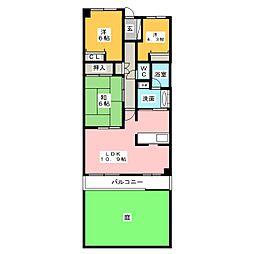 メゾン聖ヶ丘[1階]の間取り