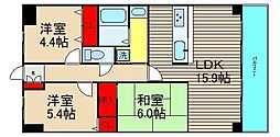 朝日プラザ堺東II[6階]の間取り