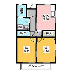 YKヒル[2階]の間取り