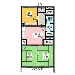 ユーハウス第2ゆたか台 東棟[4階]の間取り