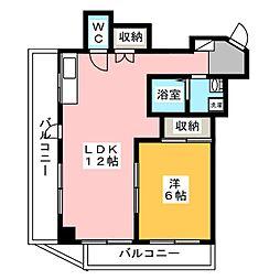 プレステージ南[4階]の間取り