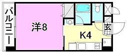 アイエム立花ビル[403 号室号室]の間取り