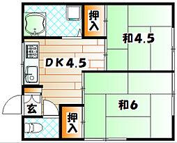 コーポたかみ[2階]の間取り