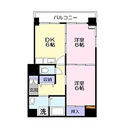 西津田中村コーポ[101号室]の間取り