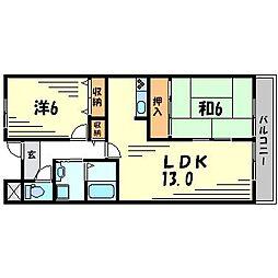 ツイン武庫川イースト・ウエスト[3階]の間取り
