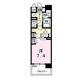 東京都練馬区中村北1丁目の賃貸マンションの間取り