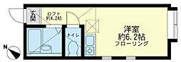 ユナイト小田栄 シャンティー[2階]の間取り