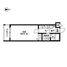 プレール・ドゥーク東中野[3階]の間取り