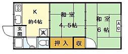 松寿荘[1階]の間取り
