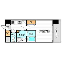 Osaka Metro長堀鶴見緑地線 京橋駅 徒歩4分の賃貸マンション 12階1Kの間取り