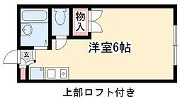 愛知県名古屋市名東区高針3の賃貸アパートの間取り