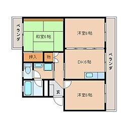 静岡県静岡市葵区北3丁目の賃貸マンションの間取り