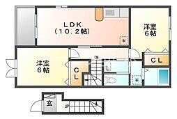プリオーレ秋葉台[2階]の間取り