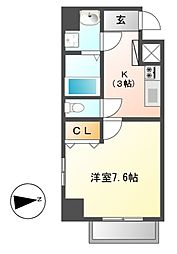 LEXCEED izumi(レクシード)[5階]の間取り