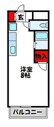 サンフィールドII古賀[5階]の間取り