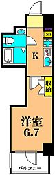 JR京浜東北・根岸線 大井町駅 徒歩6分の賃貸マンション 2階1Kの間取り