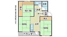 兵庫県加古川市神野町石守の賃貸マンションの間取り