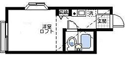 神奈川県横浜市磯子区中原3の賃貸アパートの間取り