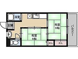 あさひマンション[2階]の間取り
