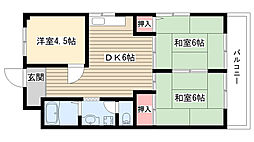 メゾン岡田[403号室]の間取り