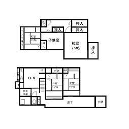 [一戸建] 福岡県大野城市下大利3丁目 の賃貸【/】の間取り
