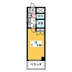ロイヤルタワー[2階]の間取り