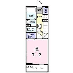 小田急小田原線 小田急相模原駅 バス9分 水道路下車 徒歩5分の賃貸アパート 1階1Kの間取り