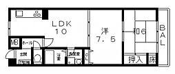 ループIII番館[302号室号室]の間取り