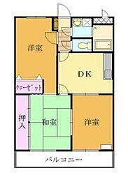 山田ハイツマンション[101号室]の間取り