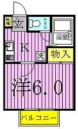 グレイスフル[203号室]の間取り