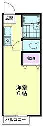 サングリーン久米川[A-203号室]の間取り