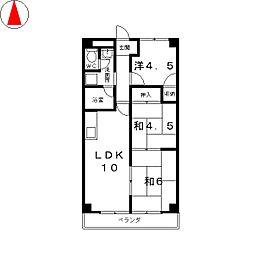 シャレ—富士見台[2階]の間取り