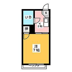 コーポイトキA棟[2階]の間取り