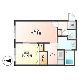 エステートN21(Estate N21)[2階]の間取り
