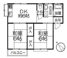 神奈川県茅ヶ崎市香川2丁目の賃貸アパートの間取り