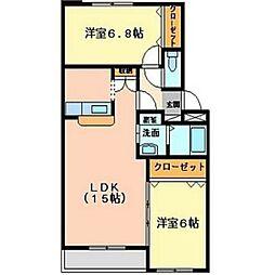 キャッスル神山[3階]の間取り