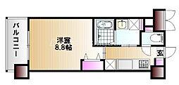 JR山陽本線 岡山駅 バス20分  福浜校前下車 徒歩5分の賃貸マンション 4階1Kの間取り