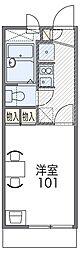 南海高野線 百舌鳥八幡駅 徒歩6分の賃貸マンション 1階1Kの間取り
