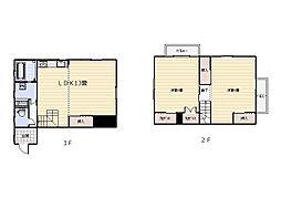 [テラスハウス] 神奈川県横須賀市平作6丁目 の賃貸【/】の間取り