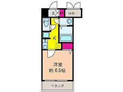 大阪府大阪市阿倍野区松崎町1丁目の賃貸マンションの間取り