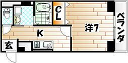 クリス戸ノ上[1階]の間取り