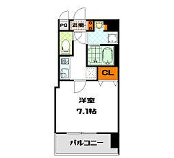 W-STYLE大阪谷町[13階]の間取り