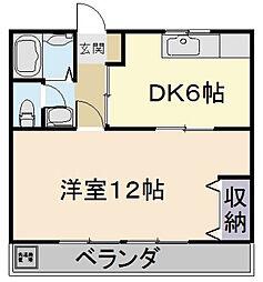 山田マンション[17号室]の間取り