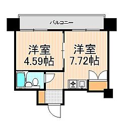 アズール上野[10階]の間取り