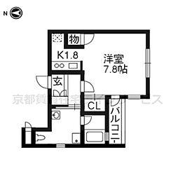 ベラジオ京都駅東II204[2階]の間取り