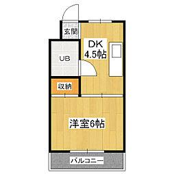 シヤトレ森田[3階]の間取り