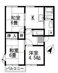 セゾン渋谷 A[101号室号室]の間取り